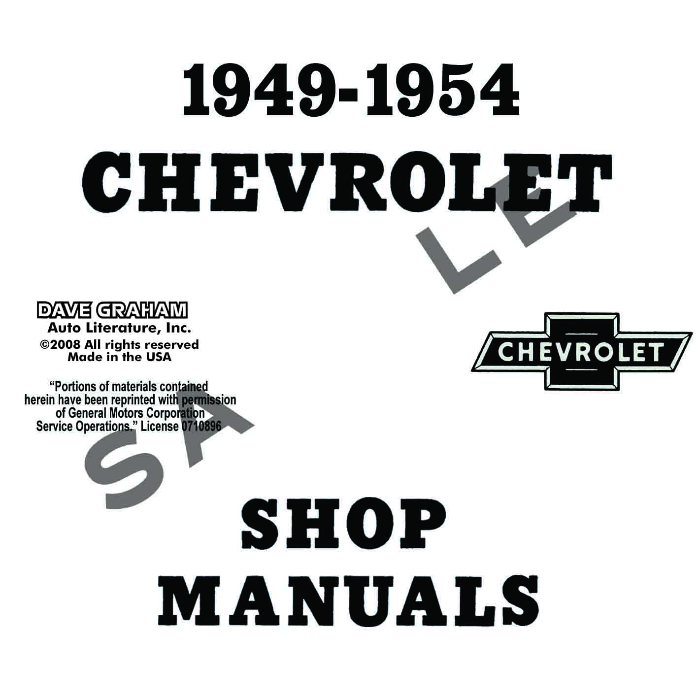 1949  1950  1951  1952  1953  1954 chevrolet repair manual