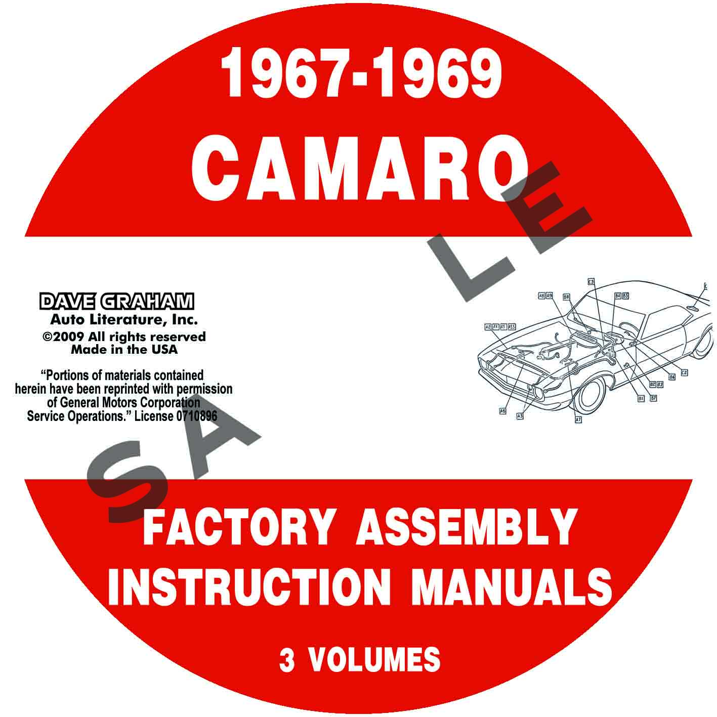 1967  1968  1969 Camaro Factory Assembly Manuals