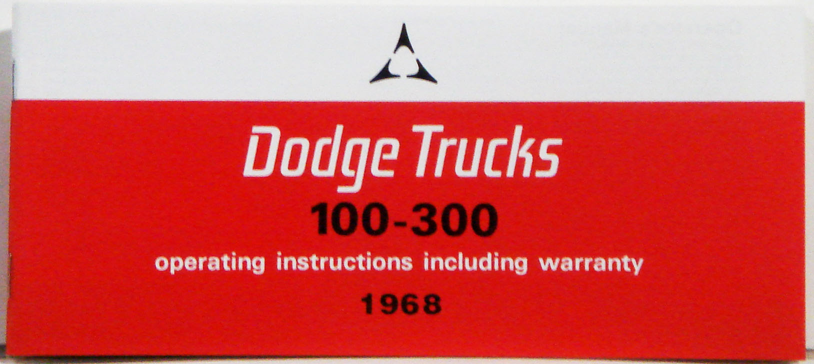 1968 Dodge Truck Owners Manual