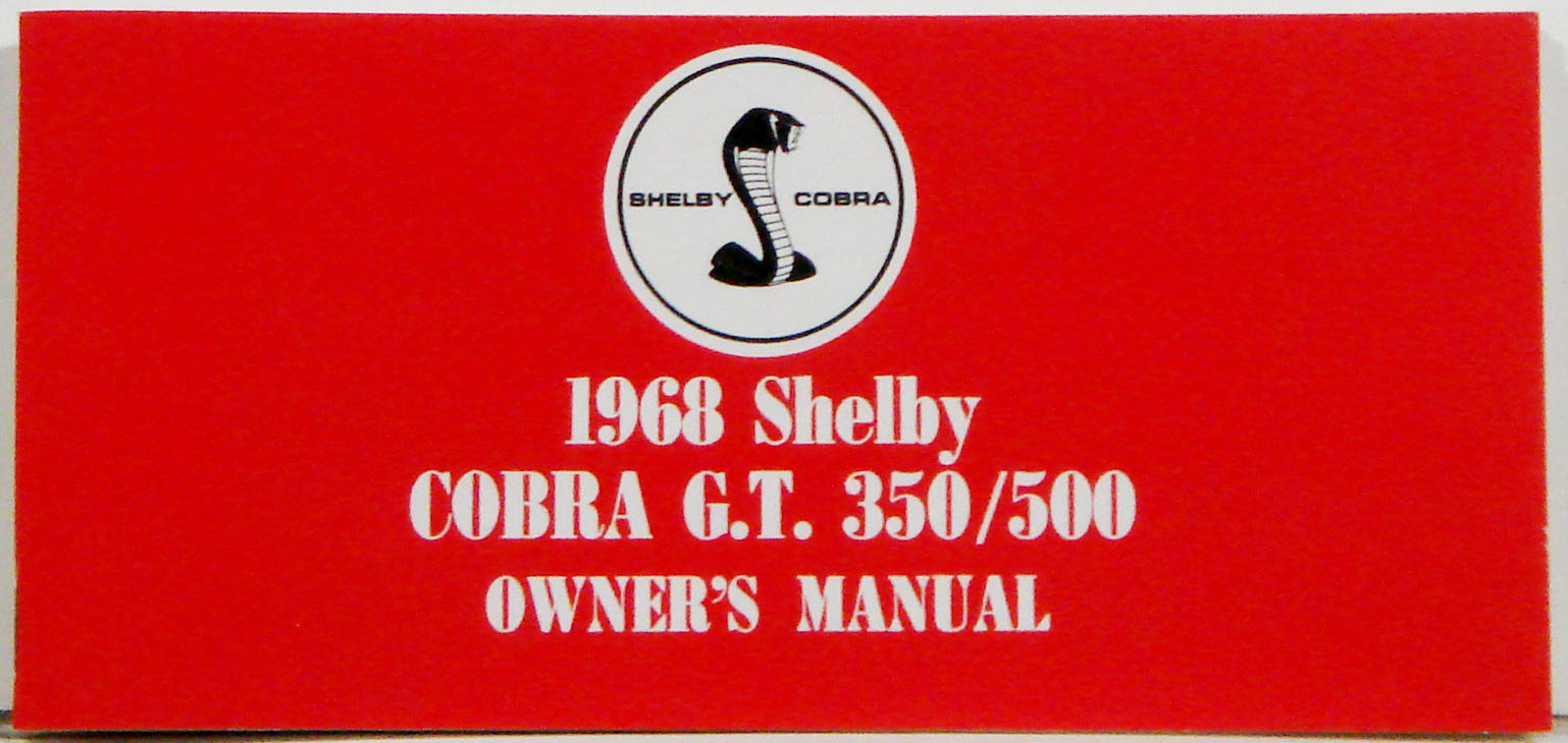 1968 Shelby Mustang Owners Manual