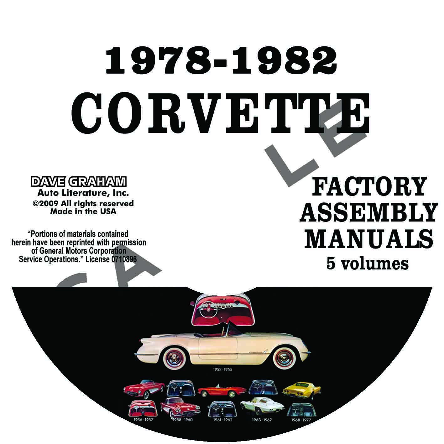 1978  1979  1980  1981  1982 chevrolet corvette factory 1972 Corvette 1980 corvette assembly manual pdf