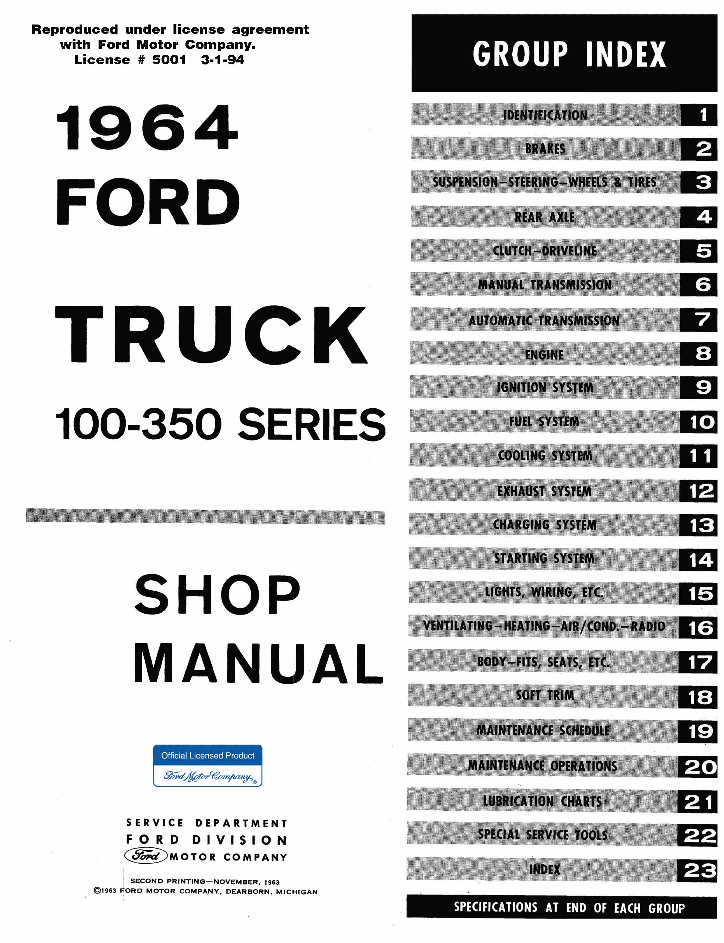 1964 Ford Truck Repair Manual