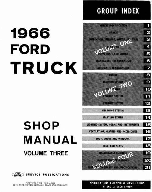 1966 ford truck shop manual complete service procedures factory rh cdmanuals net 1966 ford mustang shop manual 1966 ford shop manual