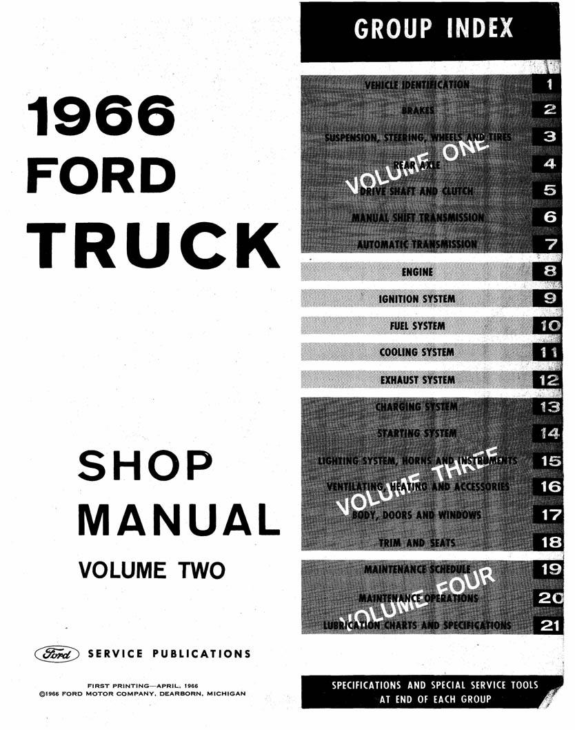 1966 ford truck shop manual complete service procedures factory rh cdmanuals net 1966 ford shop manual pdf 1966 ford mustang shop manual pdf