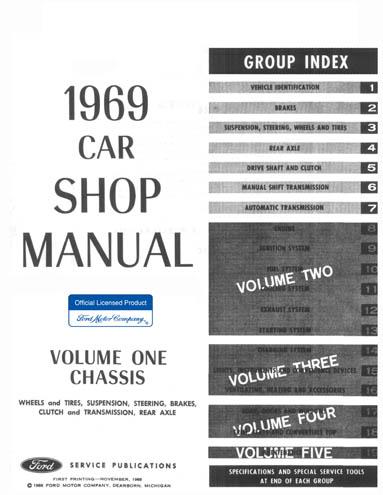 1969 ford car shop manual all models 5 volumes rh cdmanuals net 1965 Ford Shop Manual 1969 ford car shop manual pdf