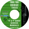 1960-1961 DODGE TRUCK REPAIR MANUALS - ALL MODELS