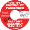 1965, 1966, 1967 CHEVROLET CAR FACTORY ASSEMBLY MANUALS