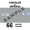 1966 CHRYSLER IMPERIAL REPAIR MANUAL – ALL MODELS