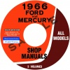 1966 FORD AND MERCURY REPAIR MANUALS - ALL MODELS