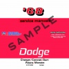 1968 DODGE SERVICE MANUALS - ALL MODELS