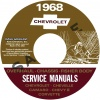 1968 CHEVROLET REPAIR, OVERHAUL, & BODY MANUALS- ALL MODELS