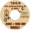 1969 OLDSMOBILE REPAIR & BODY MANUAL- ALL MODELS