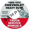 1969, 1970, 1971, 1972 CHEVROLET SERIES 70-80 HEAVY TRUCK SERVICE MANUAL