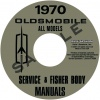 1970 OLDSMOBILE REPAIR MANUAL & BODY MANUAL- ALL MODELS