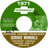 1971 CHEVY REPAIR, OVERHAUL, & BODY MANUALS- ALL MODELS