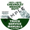 1971-1972 CHEVROLET 40-60 MEDIUM TRUCK SERVICE MANUAL