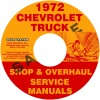 1972 CHEVY PICKUP & TRUCK REPAIR MANUAL & OVERHAUL MANUALS