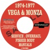 1974, 1975, 1976, 1977 VEGA & MONZA REPAIR MANUALS