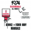 1974 OLDSMOBILE REPAIR MANUAL & BODY MANUAL- ALL MODELS