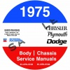 1975 CHRYSLER, DODGE, & PLYMOUTH SERVICE MANUALS - ALL MODELS