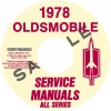1978 OLDSMOBILE REPAIR MANUAL & BODY MANUAL- ALL MODELS