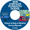 1978 CHRYSLER, DODGE, & PLYMOUTH SERVICE MANUALS - ALL MODELS
