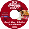 1979 CHRYSLER, DODGE, & PLYMOUTH SERVICE MANUALS - ALL MODELS