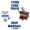 1980 FORD TRUCK AND VAN REPAIR MANUAL SET