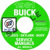 1981 BUICK REPAIR MANUALS - ALL MODELS