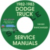 1982-1983 DODGE TRUCK SERIES 150-350 REPAIR MANUALS