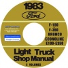 1983 FORD TRUCK REPAIR MANUALS 5 VOLUME SET