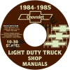 1984-1985 CHEVROLET TRUCK SHOP MANUALS