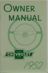 1952 Chevy Car Owners Manual