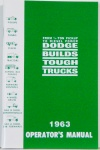 1963 Dodge Truck Owners Manual