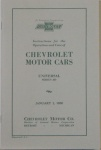 1930 Chevy Car Owners Manual