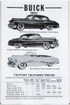 1951 Buick, Advertised Delivered Prices
