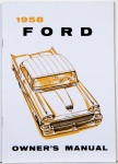 1958 Ford Car Owners Manual