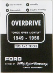 1949-56 Ford Car Overdrive, Assembly, Disassembly Instruction Manual.