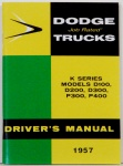 1957 Dodge Truck Owners Manual