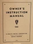 1934 Plymouth Owner's Manual