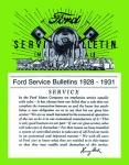 1928, 1929, 1930, 1931 Ford Service Bulletins