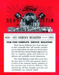 1938, 1939, 1940 Ford Service Bulletin