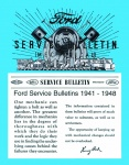1941, 1942, 1946, 1947, 1948 Ford Service Bulletin