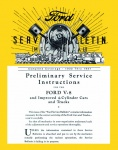 1932, 1933, 1934, 1935, 1936, 1937 Ford Service Bulletins