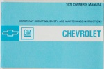1971 Chevy Car Owners Manual