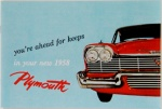 1958 Plymouth Owners Manual