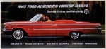 1963 Ford Galaxie, Galaxie 500, 500 XL and Wagons Owners Manual