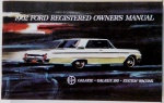 1962 Ford Galaxie, Galaxie 500 & station Wagons Owners Manual