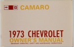 1973 Camaro Owners Manual