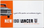 1961 Dodge Lancer Owners Manual